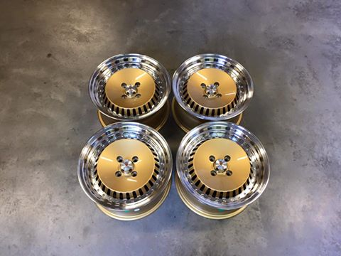 "15"" Stuttgart ST4 Wheels - Gold Polished - VW / Audi - 4x100"