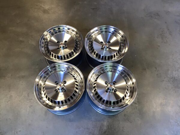 "15"" Stuttgart ST4 Wheels - Silver Polished - VW / Audi - 4x100"