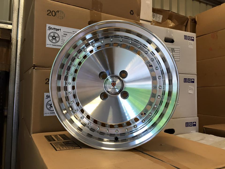 "15"" Stuttgart ST4 Wheels - Silver Polished - VW / Audi - 4x100"