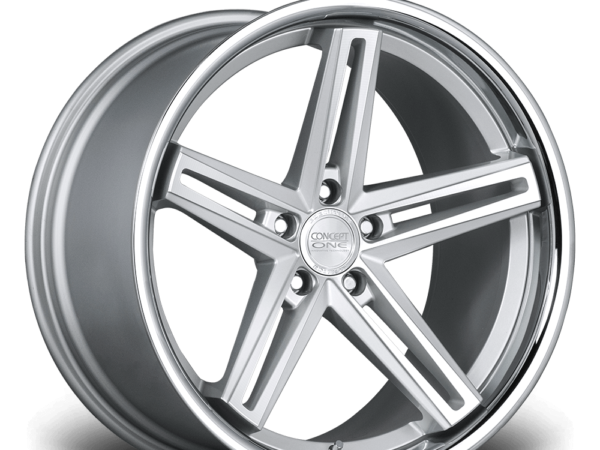 "20"" CONCEPT ONE CS55 Wheels - Silver Polished Lip - VW / Audi / Mercedes - 5x112"