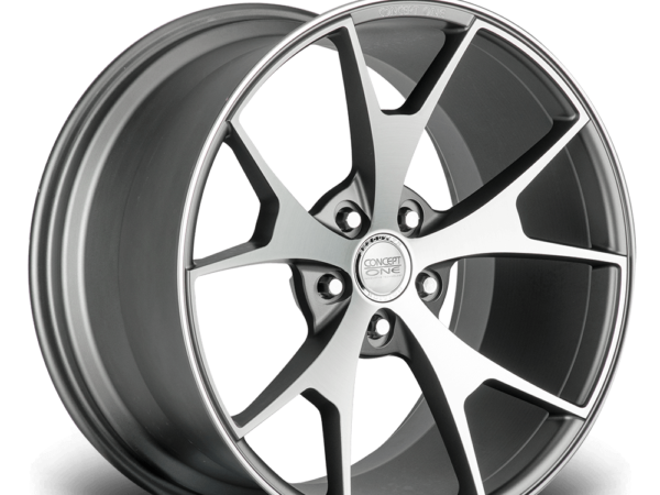 "20"" CONCEPT ONE CSM5 Wheels - Gunmetal Polished Lip - VW / Audi / Mercedes - 5x112"