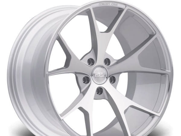 "20"" CONCEPT ONE CSM5 Wheels - Silver Polished Lip - VW / Audi / Mercedes - 5x112"