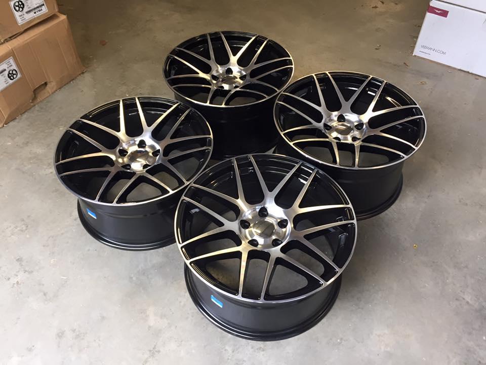 "19"" Staggered CSL F14 Style Wheels - Gloss Black Machined - E90 / E91 / E92 / E93 / F10 / F11"