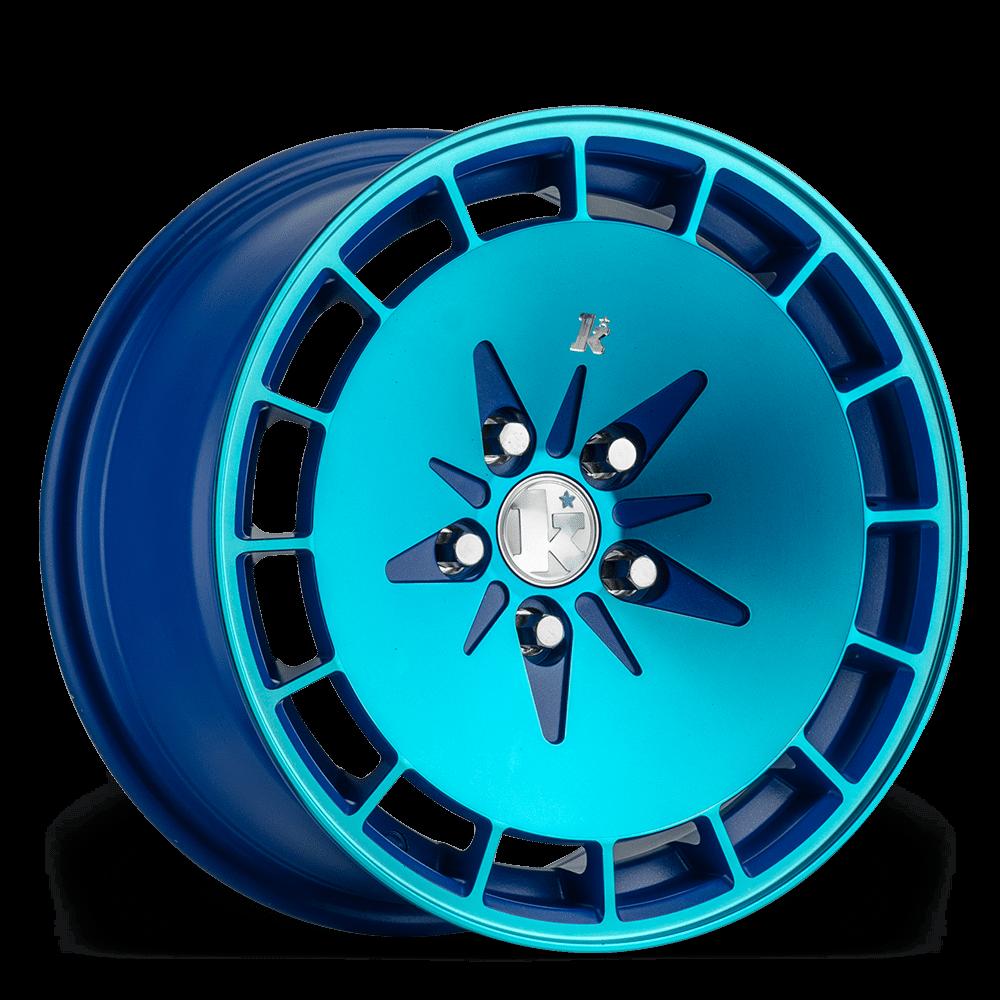 "16"" KLUTCH KM16 Wheels - Blue - VW / Audi - 4x100"