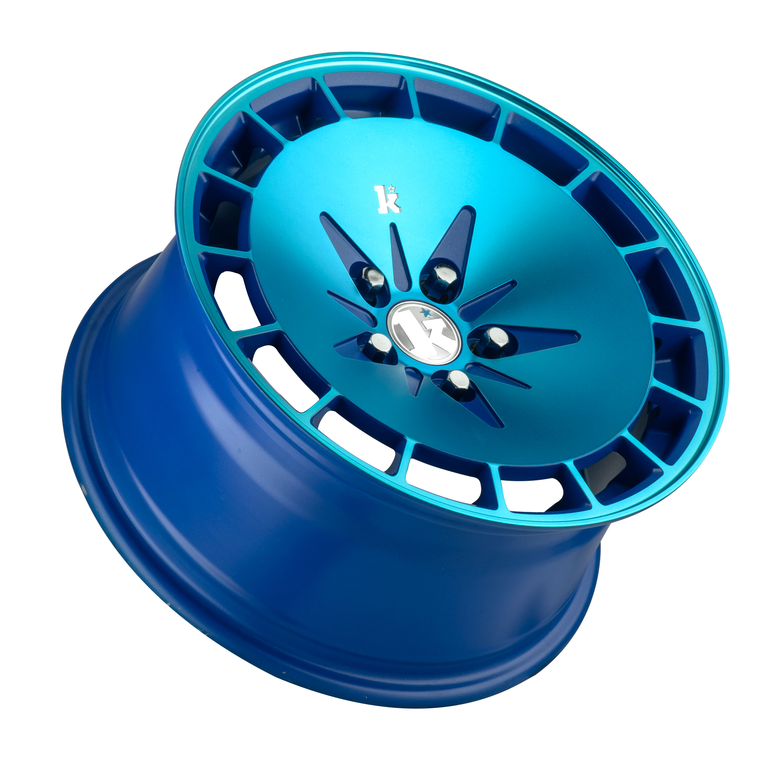 "15"" KLUTCH KM16 Wheels - Blue - VW / Audi - 4x100"