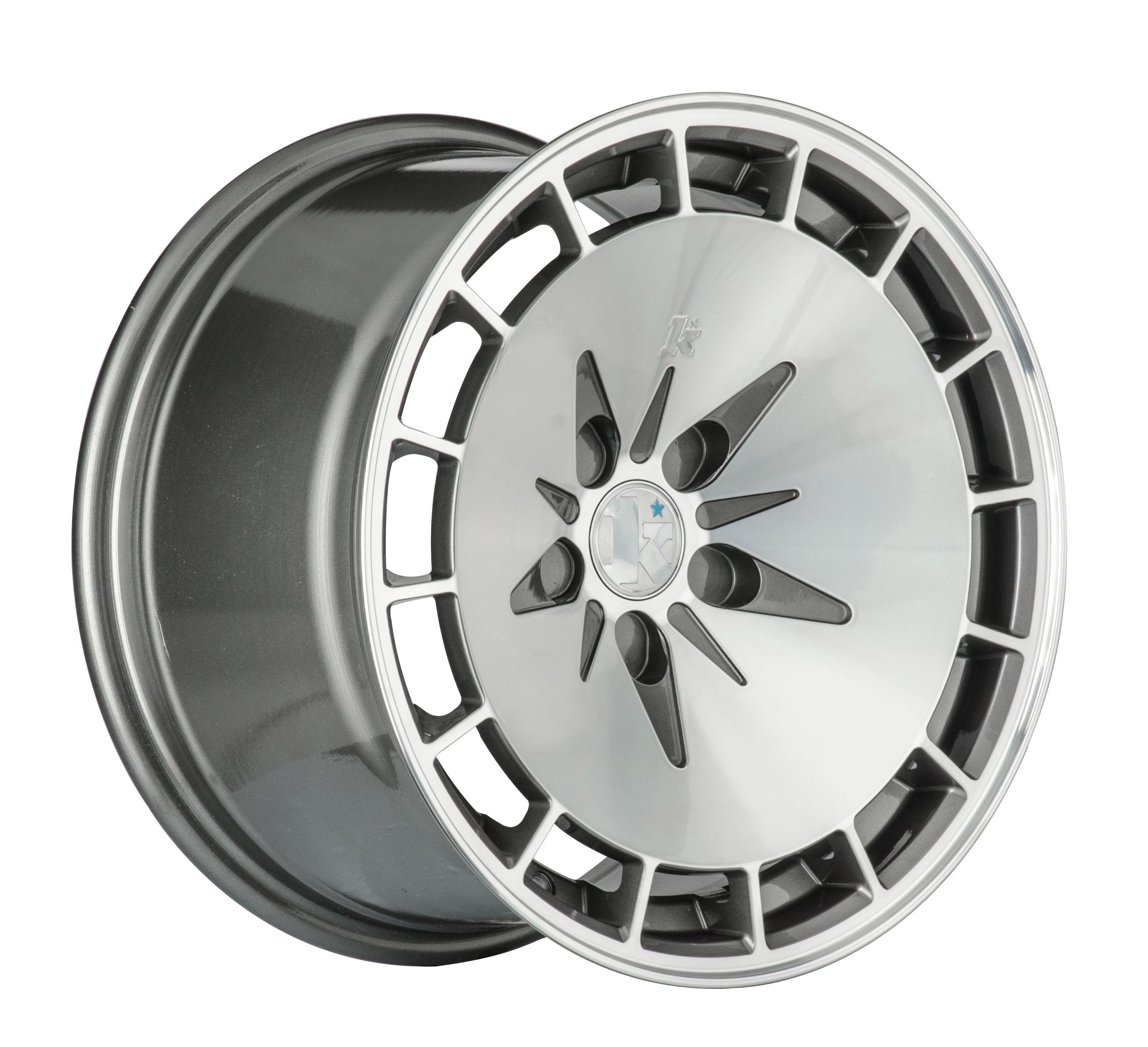"15"" KLUTCH KM16 Wheels - Gunmetal Polished - VW / Audi - 4x100"
