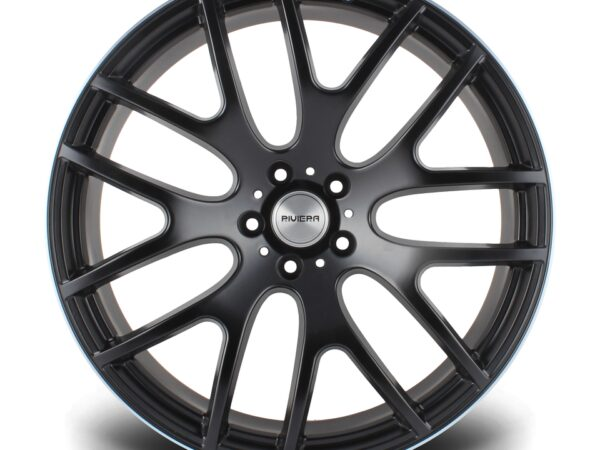 "22"" RIVIERA RV117 Wheels - Matt Black Machined Face - 5x120"