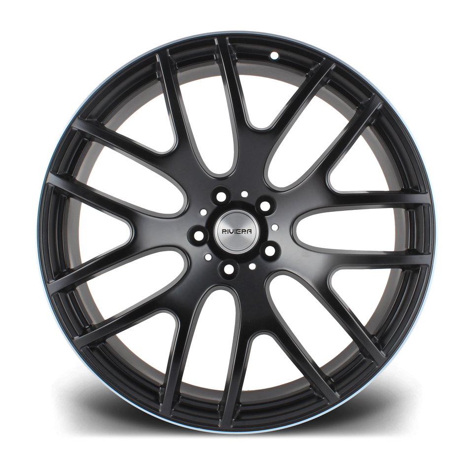 """22"""" RIVIERA RV117 Wheels - Matt Black Machined Face - 5x120"""