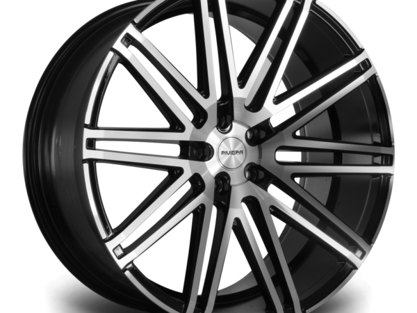 "22"" RIVIERA RV120 Wheels - Black Polished - 5x120"