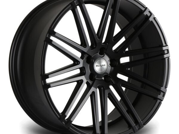 "22"" RIVIERA RV120 Wheels - Matt Black - 5x120"
