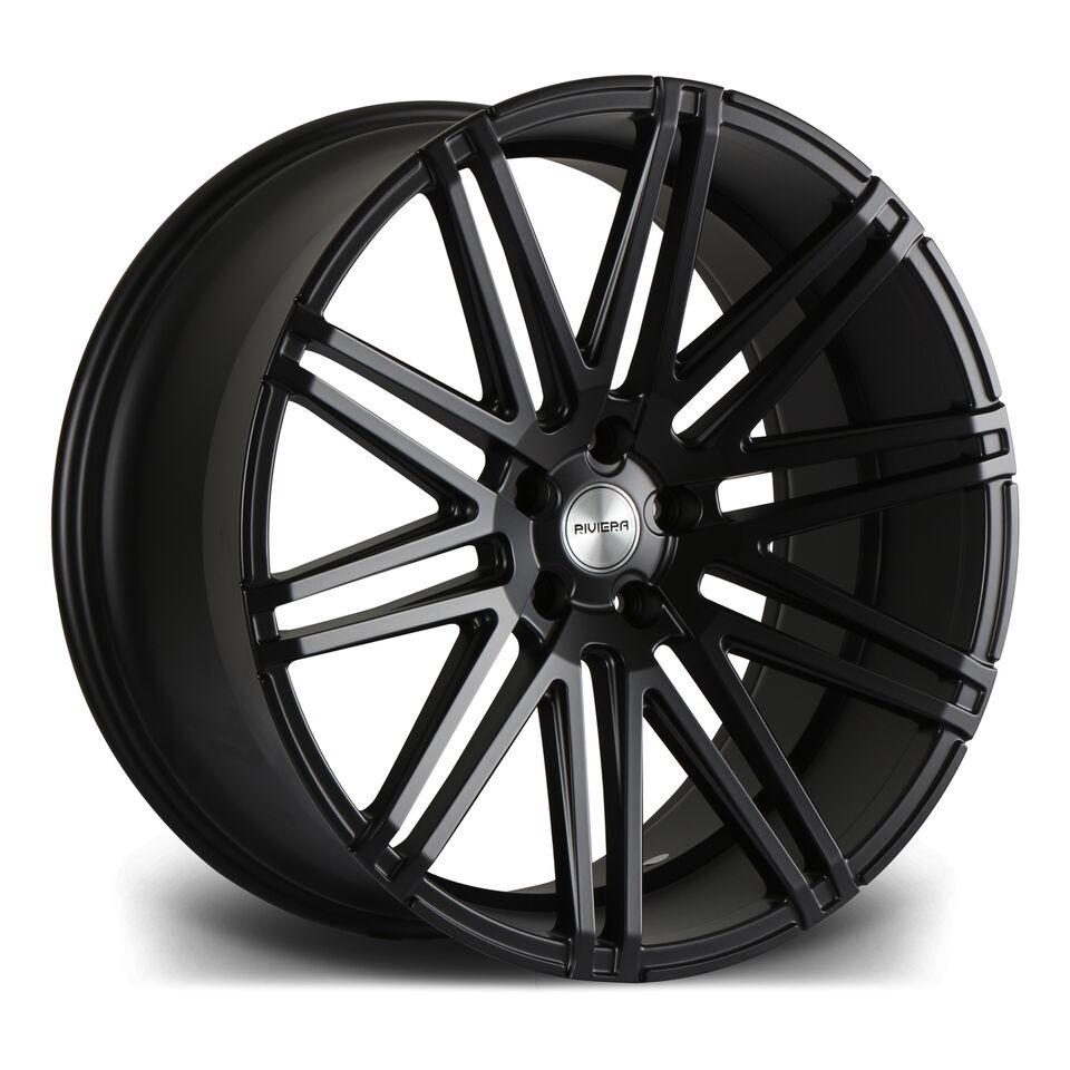 """22"""" RIVIERA RV120 Wheels - Matt Black - 5x120"""