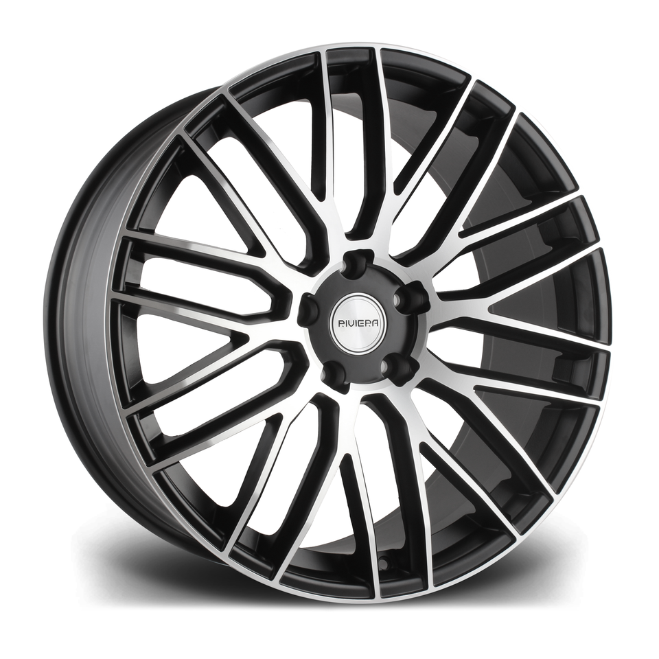 "22"" RIVIERA RV126 Wheels - Matt Black Polished - 5x130"