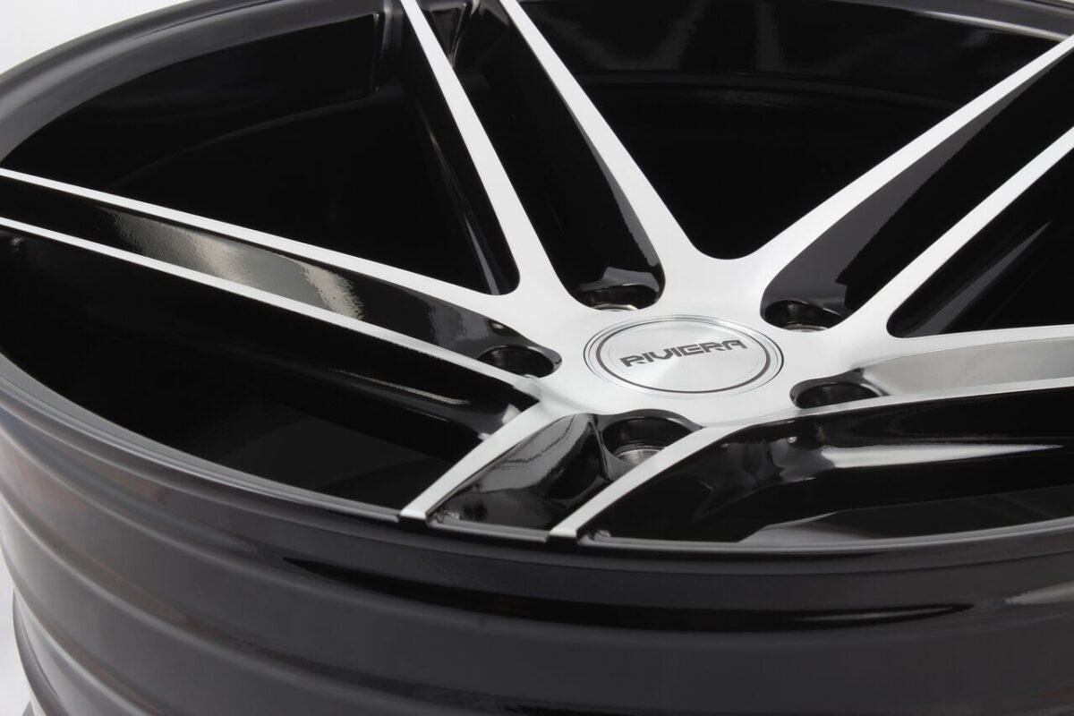 """18"""" RIVIERA RV132 Wheels - Black Polished - E9x / F10 / F11 / F30 / F32 / E46 - 5x120"""