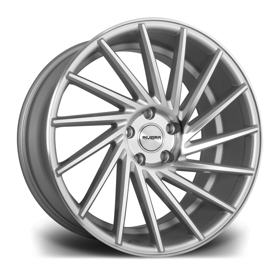 "20"" RIVIERA RV135 Directional Wheels - Silver Polished - VW / Audi / Mercedes - 5x112"