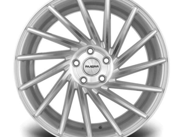 "20"" RIVIERA RV135 Directional Wheels - Silver Polished - VW / Audi / Mercedes - 5x112"