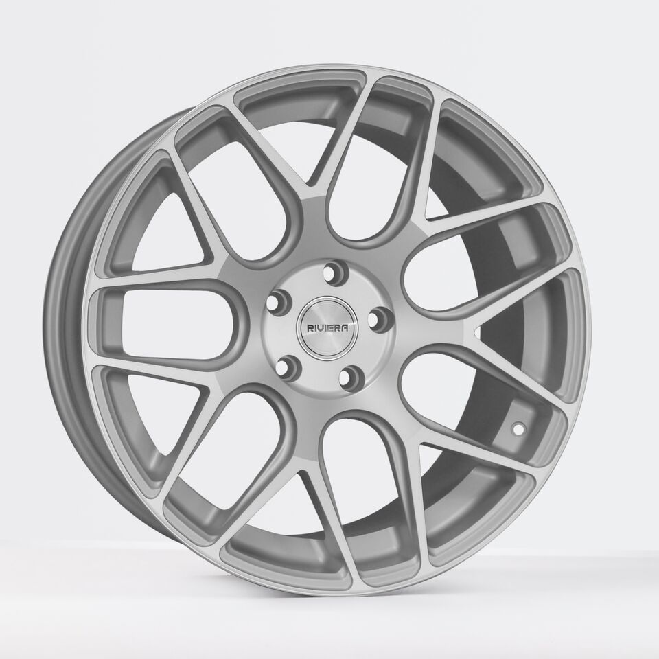 "19"" RIVIERA RV160 Wheels - Silver Polished - VW / Audi / Mercedes - 5x112"