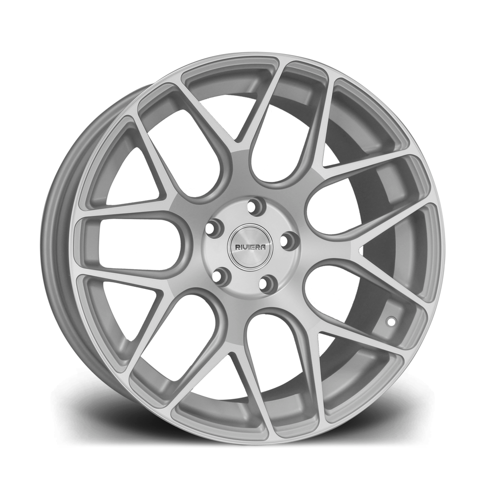 "19"" RIVIERA RV160 Wheels - Silver Polished - VW / Audi / Mercedes - 5x112"