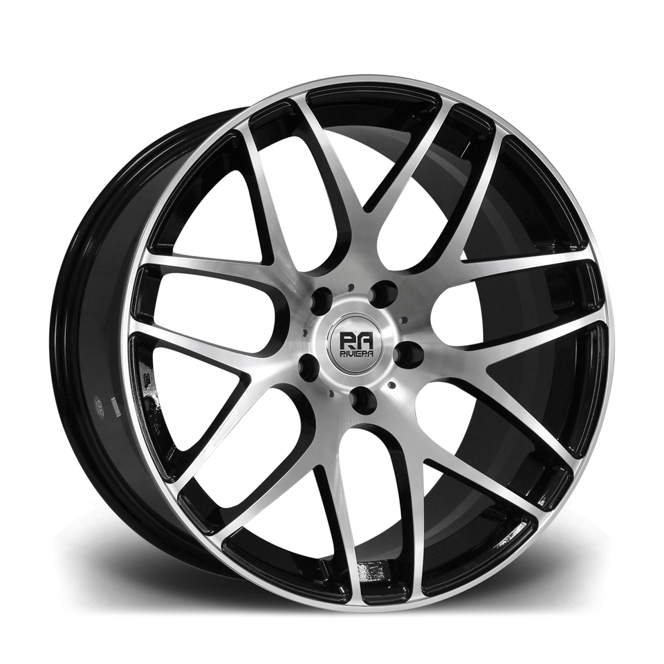 "20"" RIVIERA RV170 Wheels - Black Polished - VW / Audi / Mercedes - 5x112"
