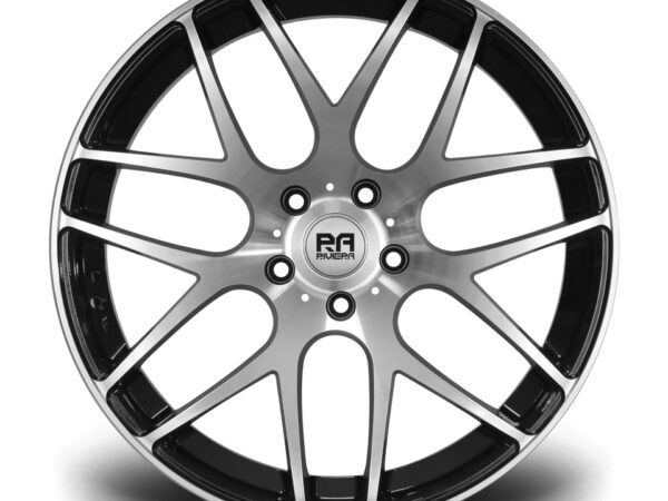 "19"" RIVIERA RV170 Wheels - Black Polished - VW / Audi / Mercedes - 5x112"