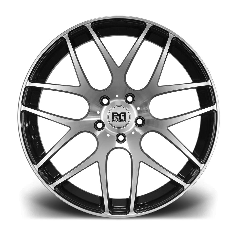 "19"" RIVIERA RV170 Wheels - Black Polished - VW / Audi / Mercedes - 5x112"