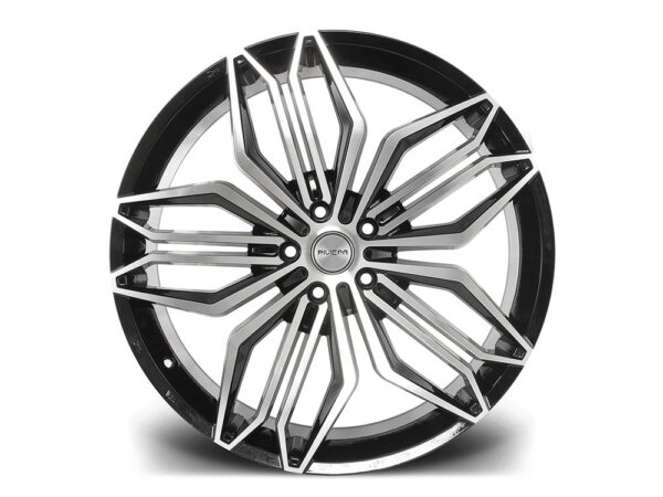 "22"" RIVIERA RV180 Wheels - Black Polished - 5x120"