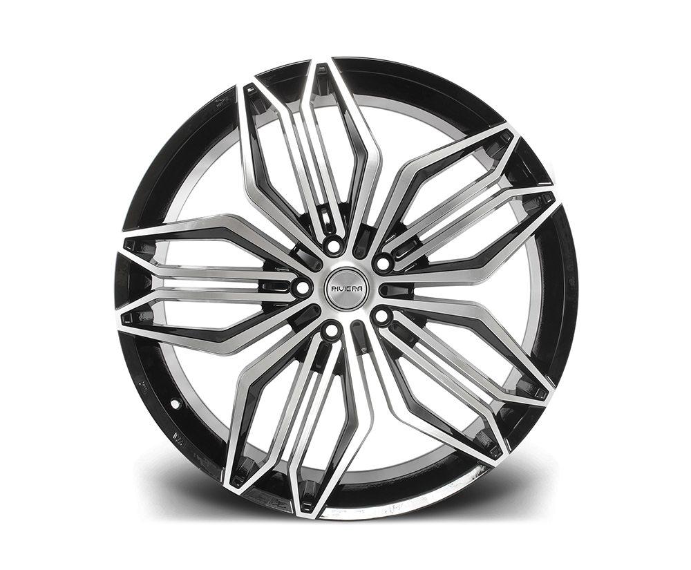 """22"""" RIVIERA RV180 Wheels - Black Polished - 5x120"""