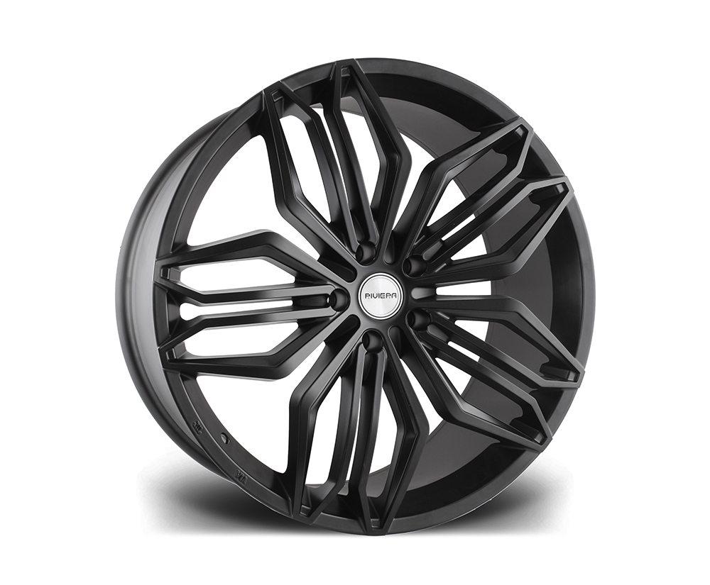 """22"""" RIVIERA RV180 Wheels - Matt Black - 5x120"""