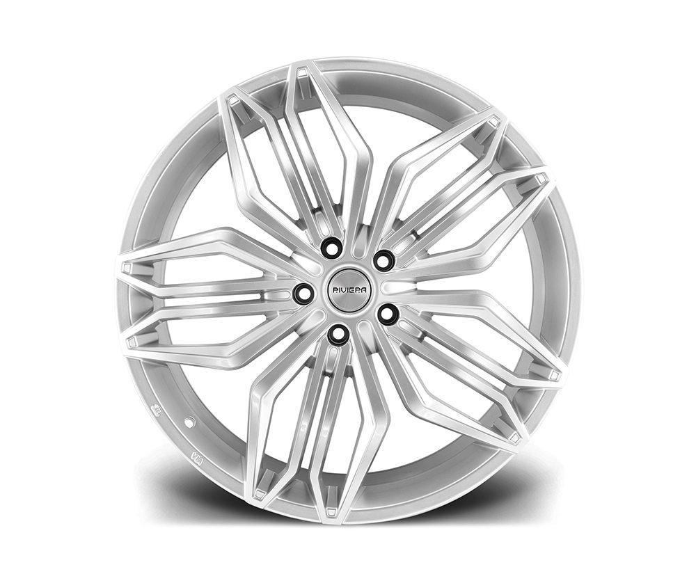 "22"" RIVIERA RV180 Wheels - Hyper Silver - 5x120"