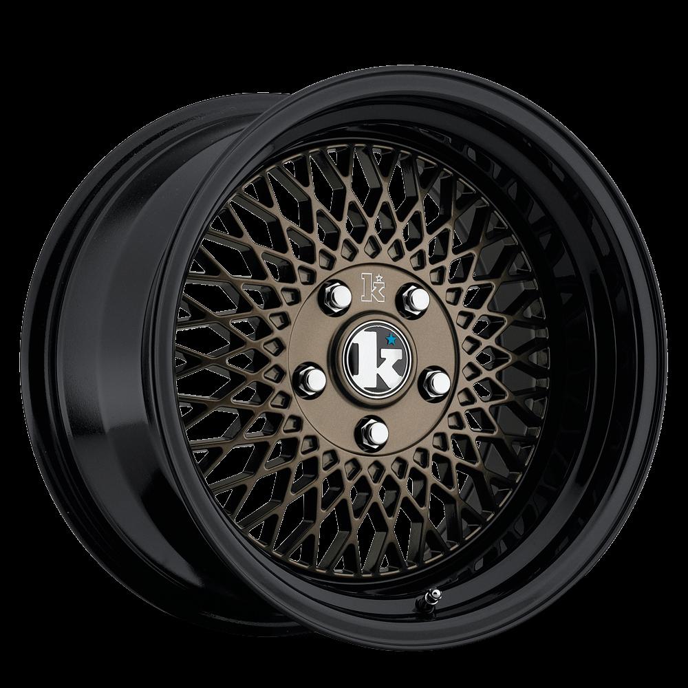 "16"" KLUTCH SL1 Wheels - Bronze Black - VW / Audi - 4x100"