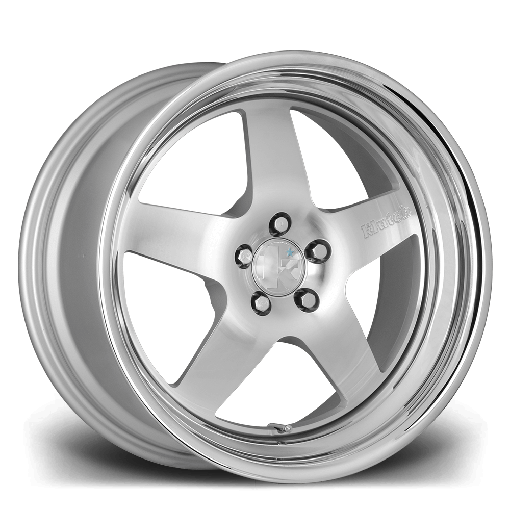 "18"" KLUTCH SL5 Wheels - Silver Polished - E60 / E61 / E9x M3"