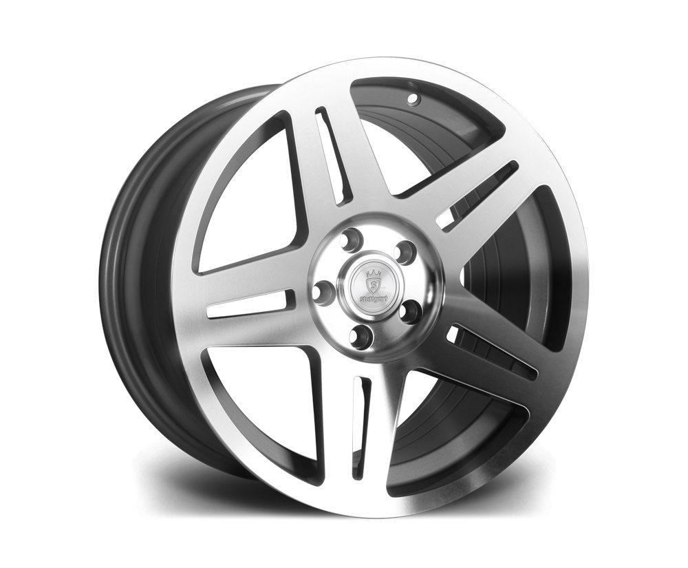 "17"" STUTTGART ST11 Wheels - Silver Polished - VW / Audi - 5x100"