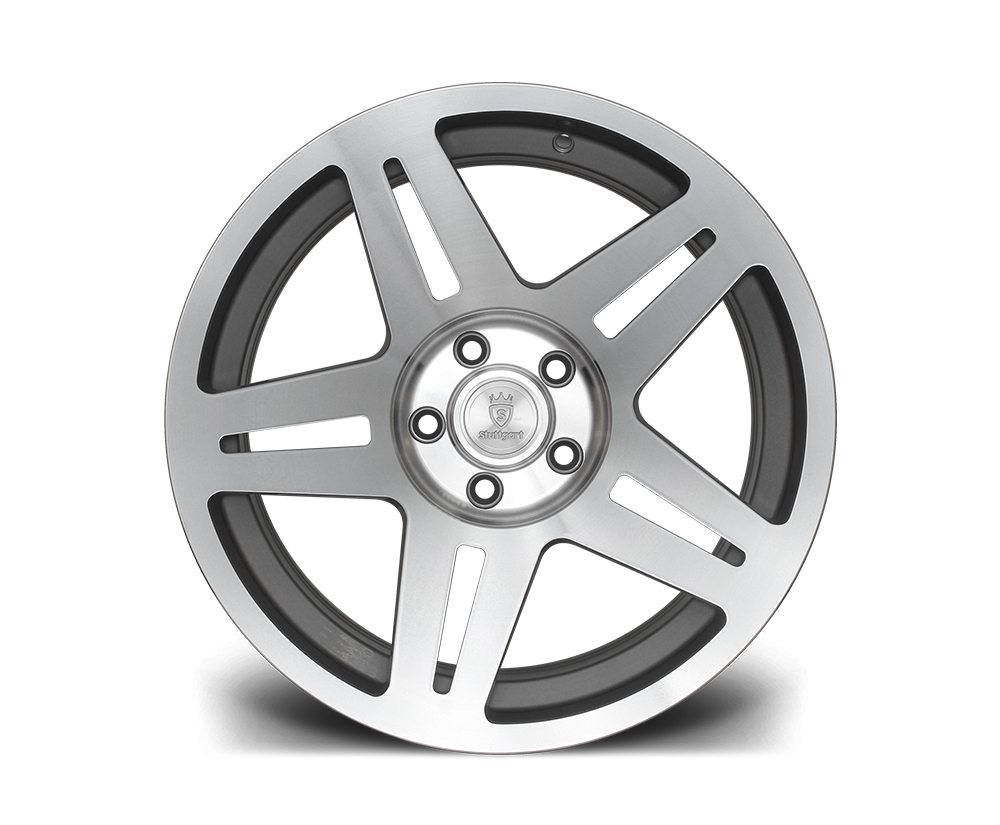 "17"" STUTTGART ST11 Wheels - Silver Polished - VW / Audi - 4x100"