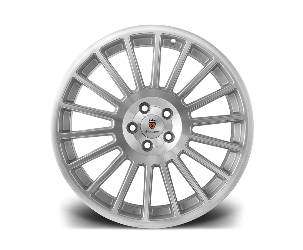 "18"" STUTTGART ST2 Wheels - Silver Polished - VW / Audi - 5x100"