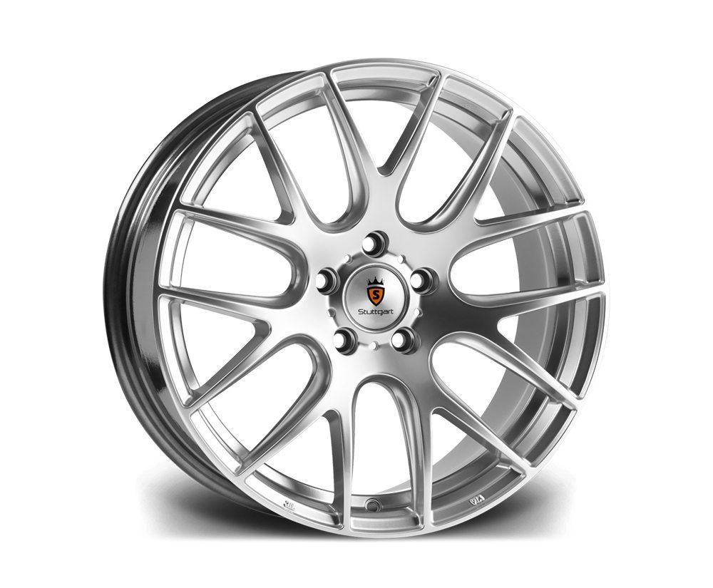 "20"" STUTTGART ST3 Wheels - Hyper Silver - VW / Audi / Mercedes - 5x112"
