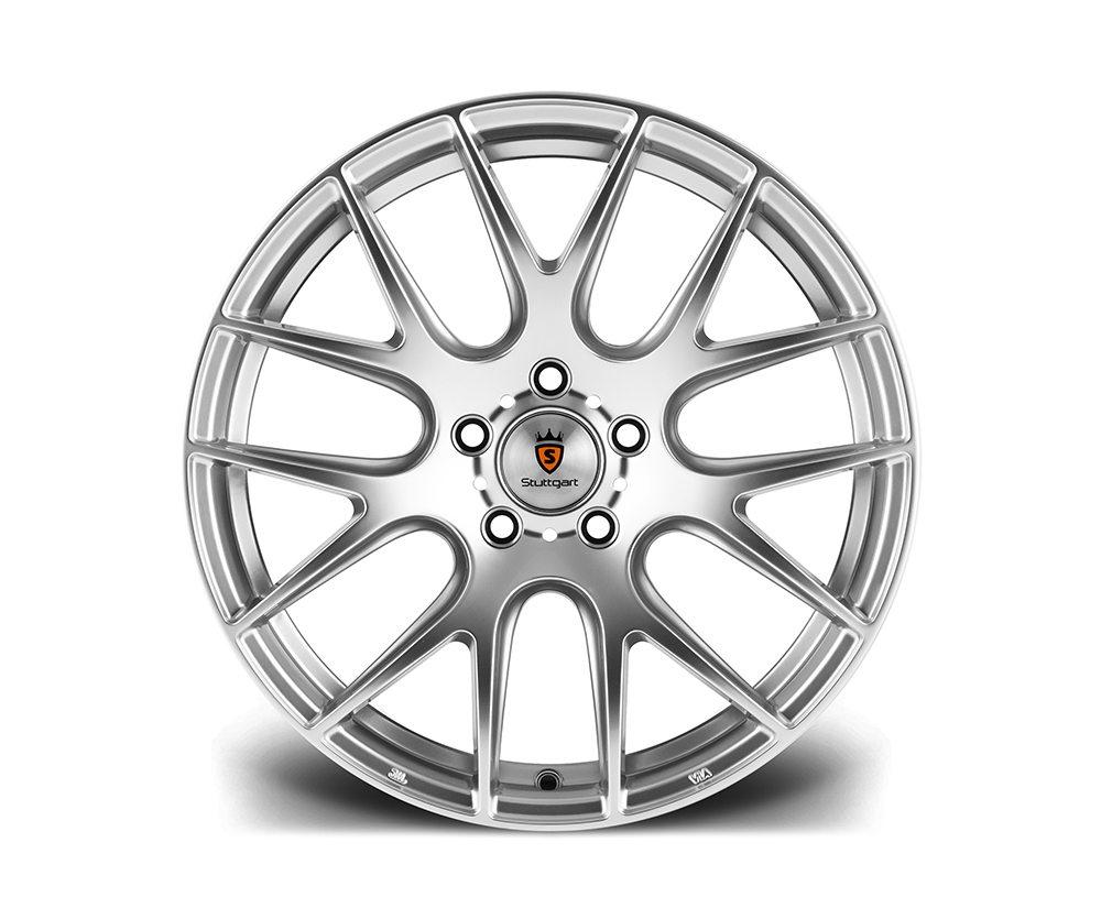 """20"""" Staggered STUTTGART ST3 Wheels - Hyper Silver - E9x M3 / E60 / E61 / E62 / E63"""
