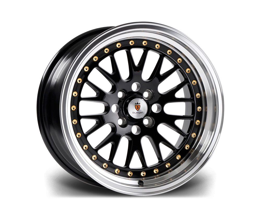 "18"" STUTTGART ST5 Wheels - Black Polished - VW / Audi / Mercedes - 5x112"