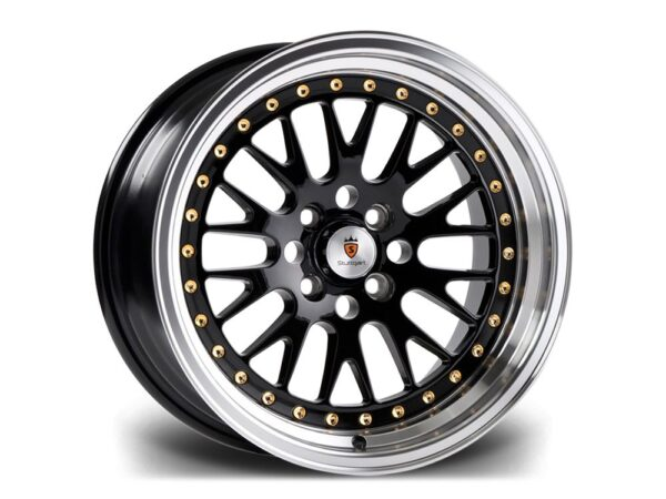 "15"" STUTTGART ST5 Wheels - Black Polished - VW / Audi - 4x100"