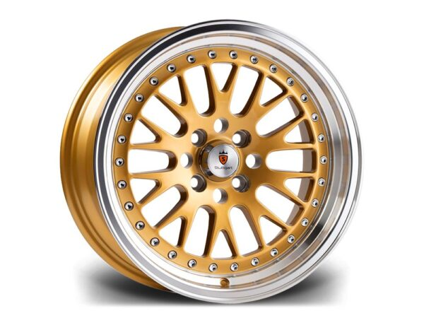 "16"" STUTTGART ST5 Wheels - Gold Polished - VW / Audi - 4x100"