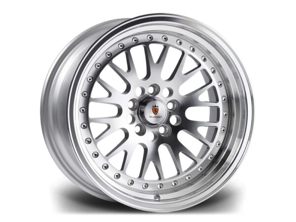 "15"" STUTTGART ST5 Wheels - Silver Polished - VW / Audi - 4x100"