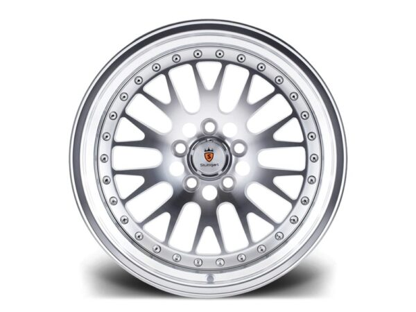 "18"" STUTTGART ST5 Wheels - Silver Polished - VW / Audi / Mercedes - 5x112"
