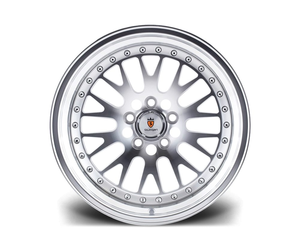 "18"" STUTTGART ST5 Wheels - Silver Polished - VW / Audi / Mercedes - 5x112"
