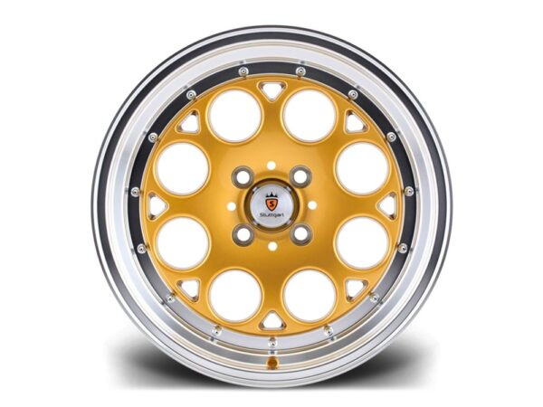 "16"" STUTTGART ST6 Wheels - Gold Polished - VW / Audi - 4x100"