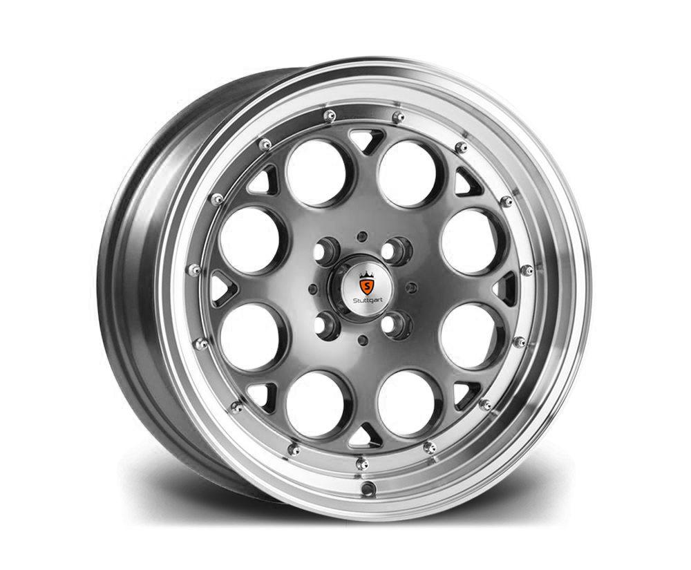 "15"" STUTTGART ST6 Wheels - Gunmetal Polished - VW / Audi - 4x100"