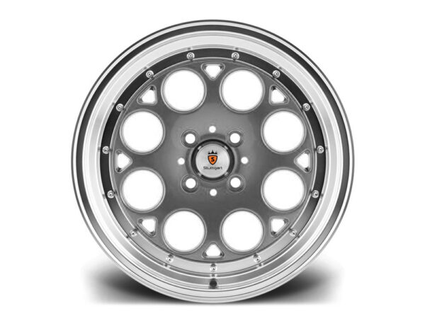 "15"" STUTTGART ST6 Wheels - Gunmetal Polished - VW / Audi - 4x100"