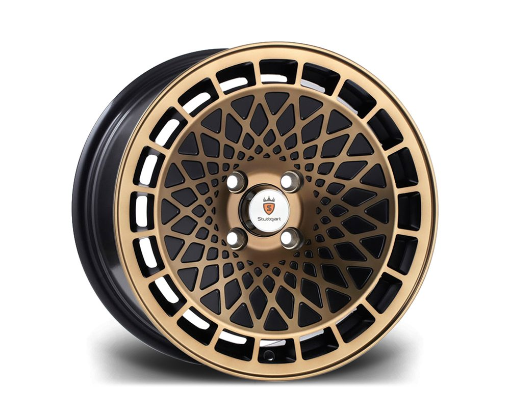"15"" STUTTGART ST7 Wheels - Black Bronze - VW / Audi - 4x100"