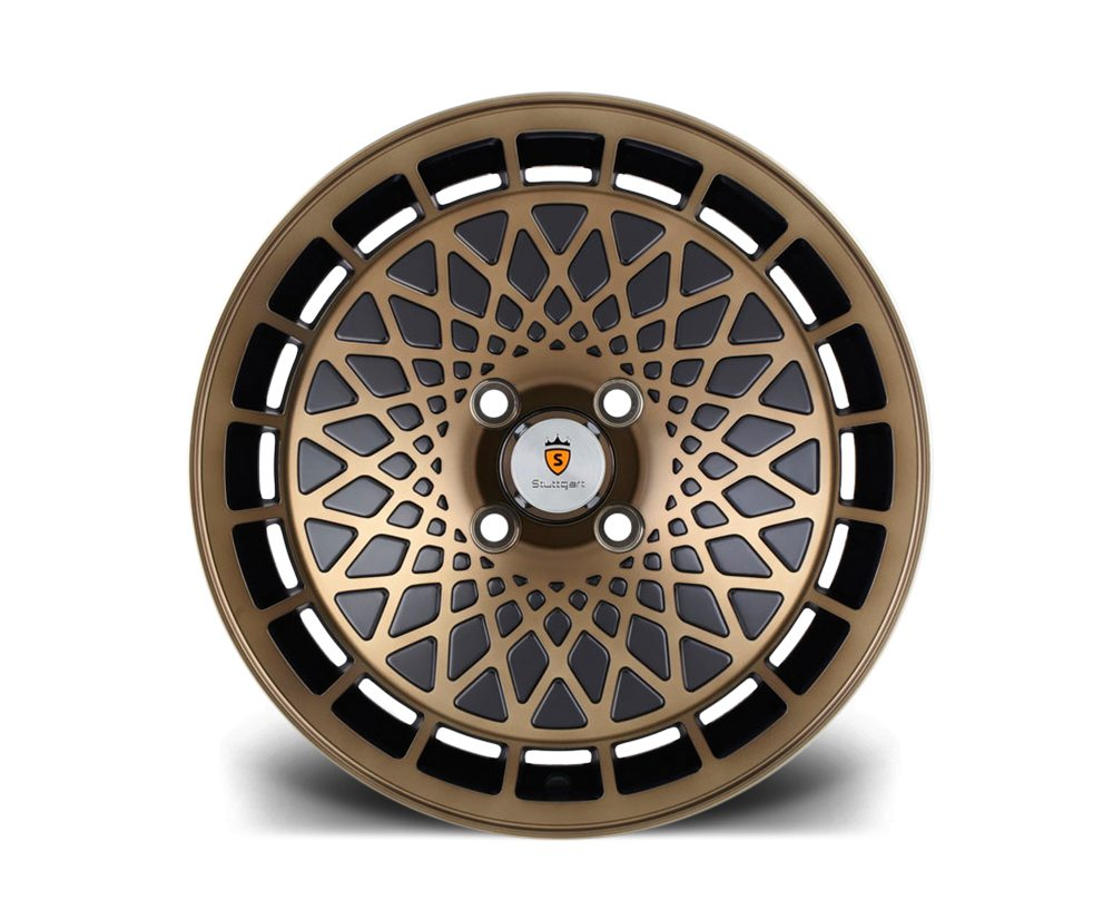 "15"" STUTTGART ST7 Wheels - Black Bronze - VW / Audi - 4x100"