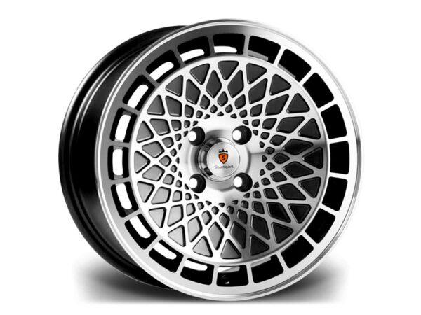 "16"" STUTTGART ST7 Wheels - Black Polished - VW / Audi - 4x100"
