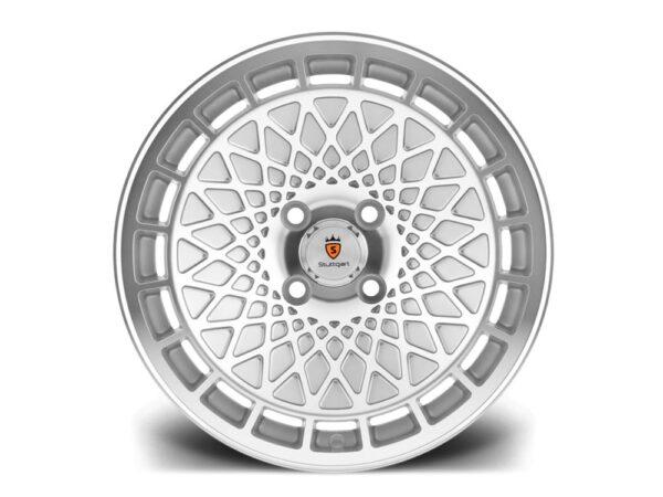 "16"" STUTTGART ST7 Wheels - Silver Polished - VW / Audi - 4x100"