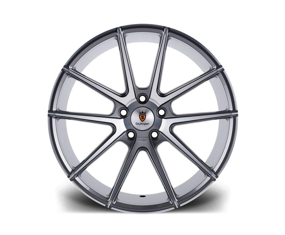 """19"""" Staggered STUTTGART ST9 Wheels - Gunmetal Machined - E9x / F10 / F11 / F30 / F32"""
