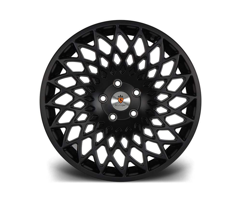 "18"" STUTTGART STX Directional Wheels - Matt Black - VW / Audi / Mercedes - 5x112"